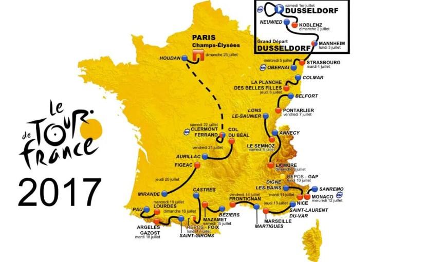 Tour de France 2017 Route