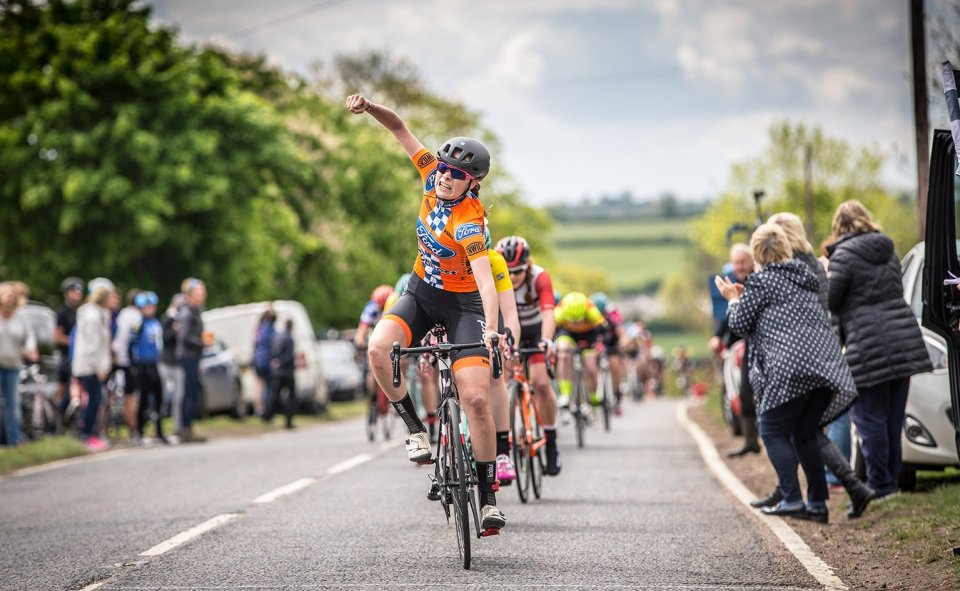 Charlotte Broughton wins Stage 5 of the Bedford 3 Day