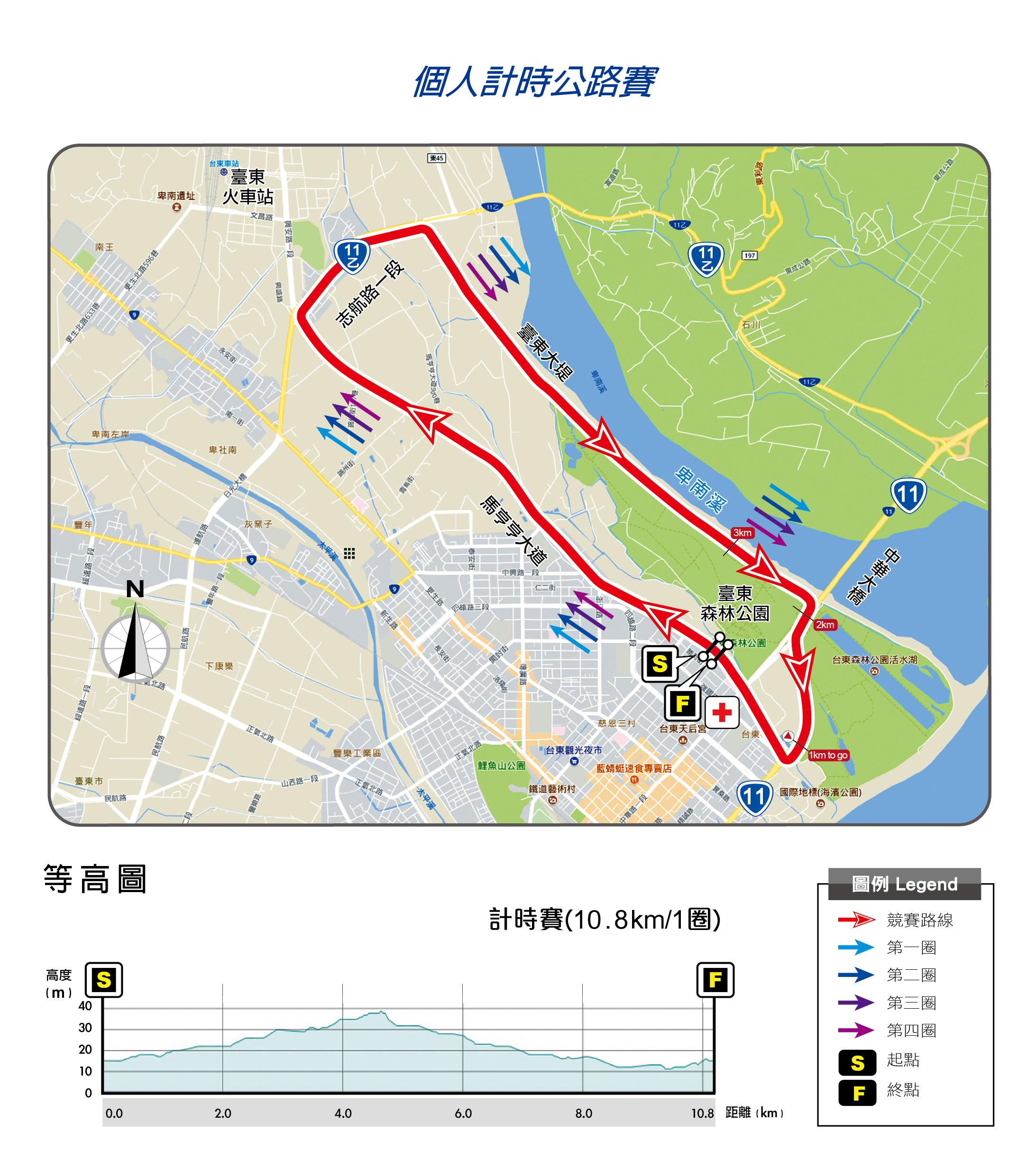 106競賽路線圖(計時公路賽)