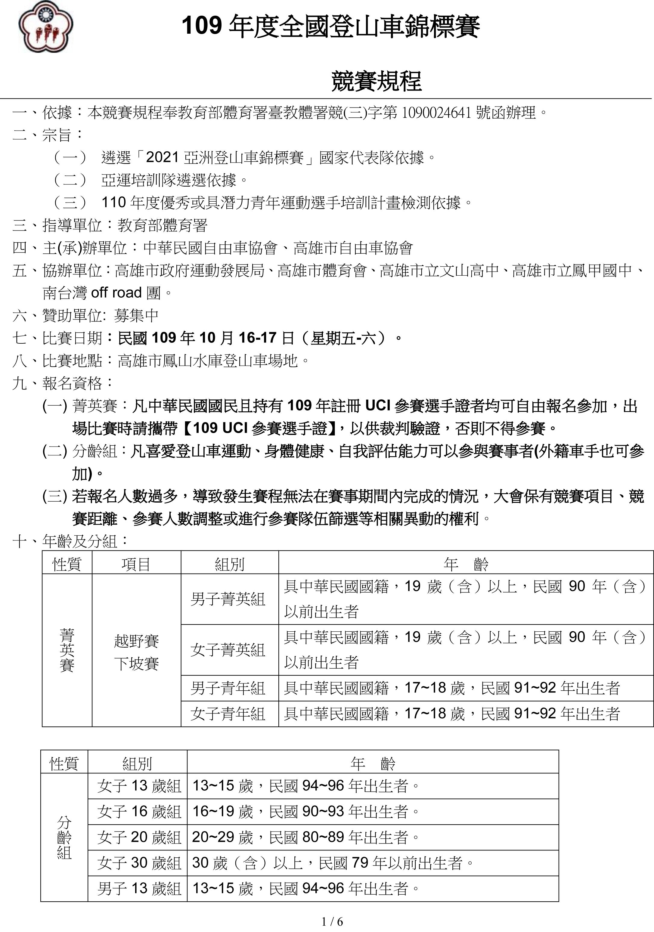 九十四年「清水巖盃」全國登山車邀請賽暨國手