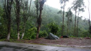 Camping on the roadside!