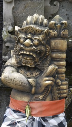 A closeup at a Balinese Temple