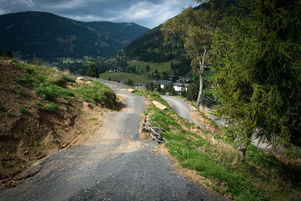 Letzter Abschnitt Steil Flowtrail