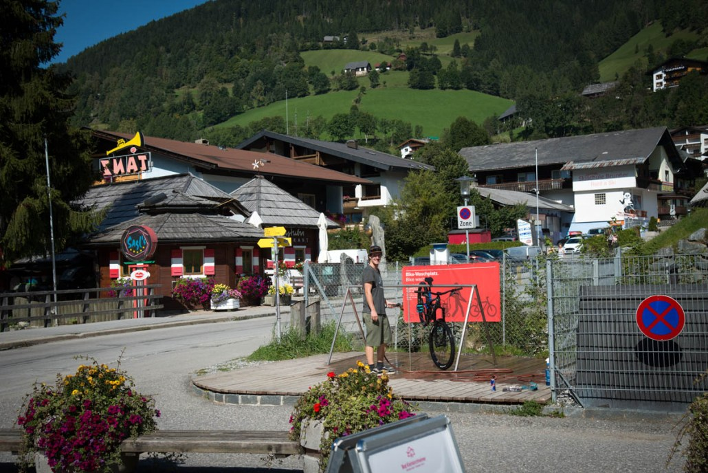 Fahrrad-Waschplatz Flowtrail