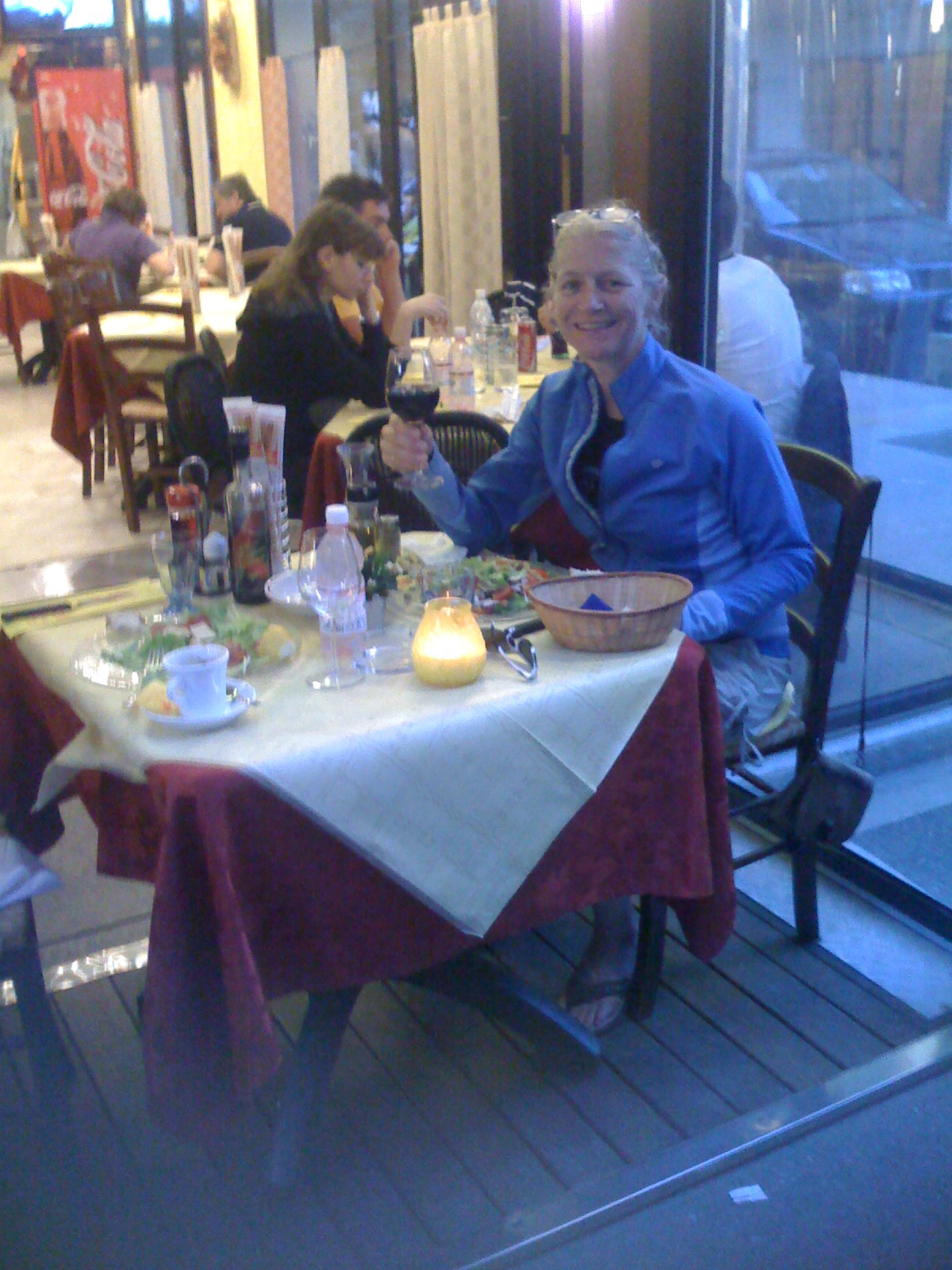 Jimmy and I out to dinner in Jesolo