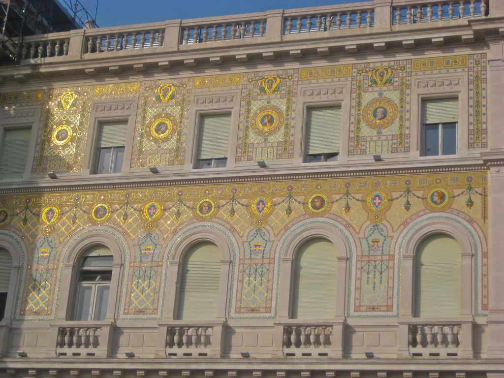 Building detail glimmering in the Trieste sun