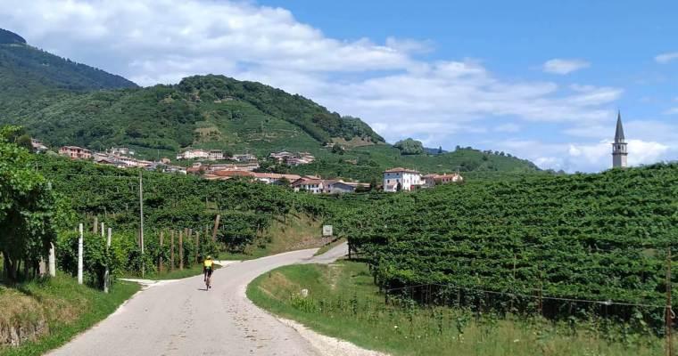 Strada del Prosecco in bicicletta: pedalando tra i vigneti di Valdobbiadene e Conegliano