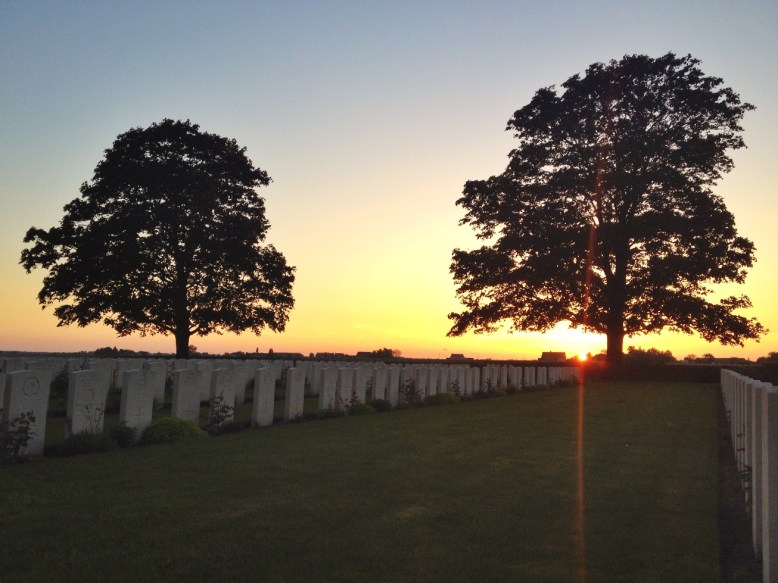 Sunset at Canada Farm Cemetery