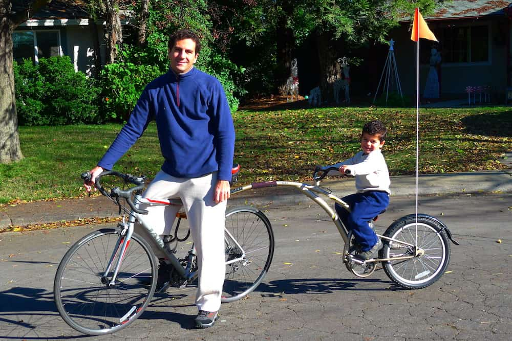 Cycling With Kids - Tag-Along Bike Trailer