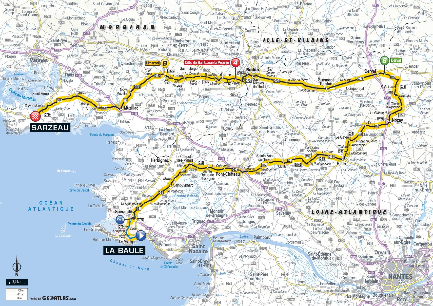 Tour De France 2018 Découvrez Les Cartes Et Profils Des 21 étapes