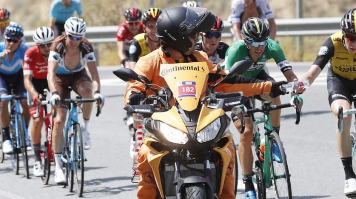 Peloton - Ravitaillement - 5e étape Tour d'Espagne 2018
