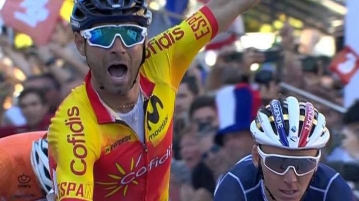 Alejandro Valverde - Champion du monde sur route 2018 - Arrivée