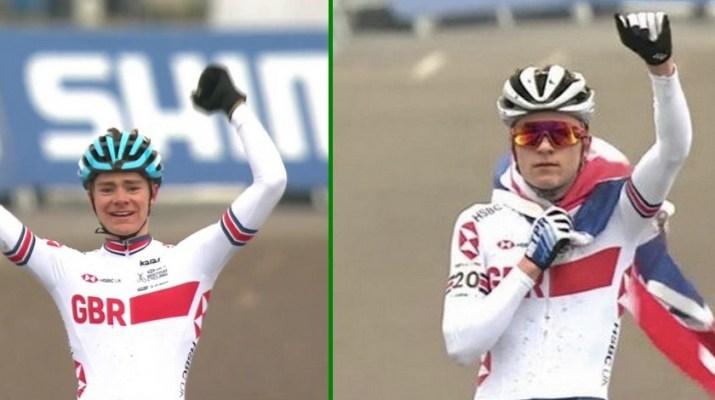 Montage - Ben Tulett - Tom Pidcock - Champions du monde Cyclo-cross 2019