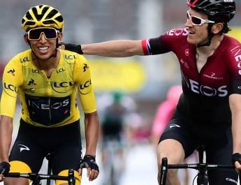 Egan Bernal - Geraint Thomas - Arrivée 20e étape Tour de France 2019
