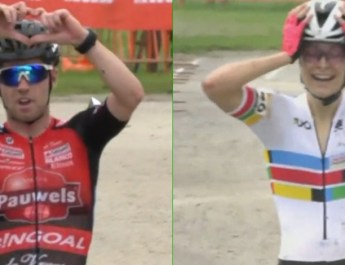 Montage - Eli Iserbyt Maghalie Rochette - Coupe du monde cyclo-cross Iowa City