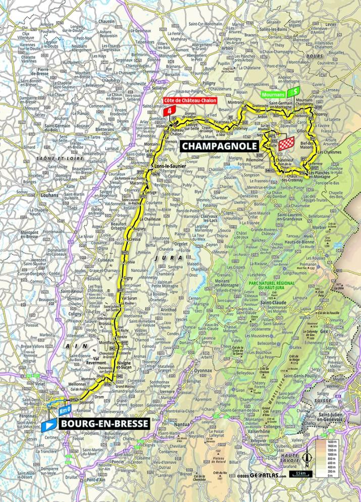 Carte - 19e étape - Tour de France 2020 - ASO/Geoatlas