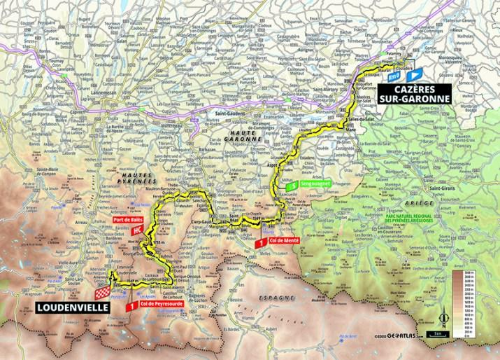 Carte - 8e étape - Tour de France 2020 - ASO/Geoatlas