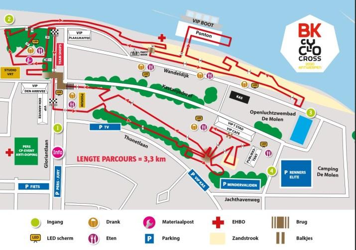 Championnat de Belgique de cyclo-cross 2020 - Parcours