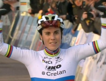 Sanne Cant - Championne de Belgique Anvers 2020 - Capture VRT