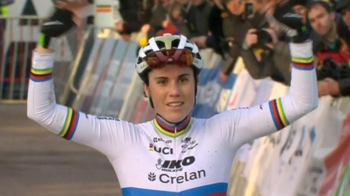 Sanne Cant - Championne de Belgique Anvers 2020 - Capture VRT