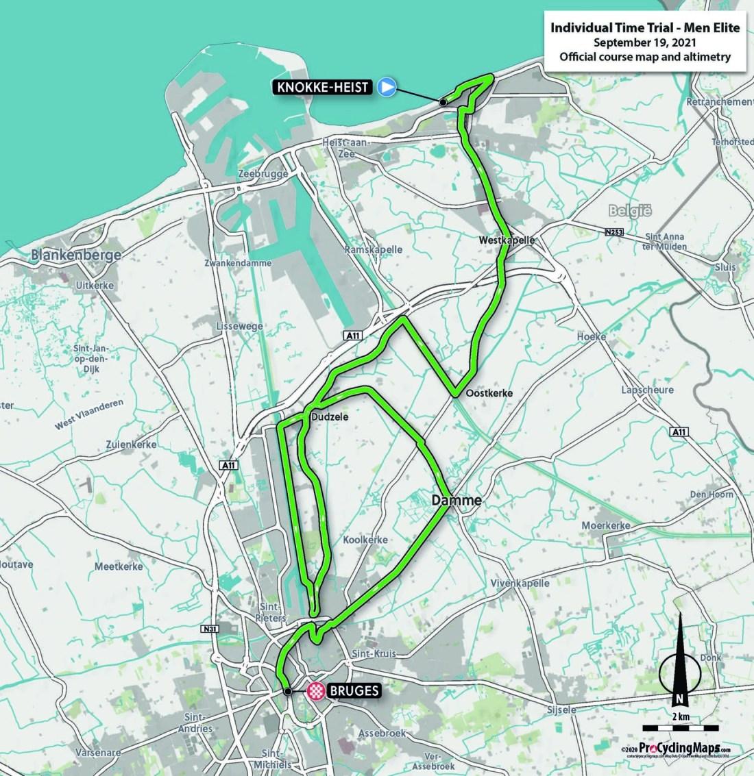 Championnats du monde sur route 2021 - Parcours Contre-la-montre Hommes