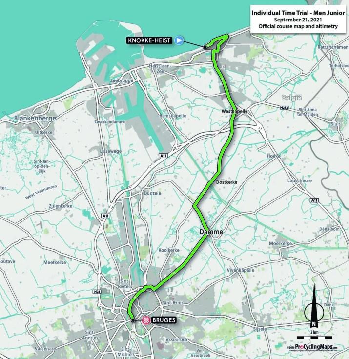 Championnats du monde sur route 2021 - Parcours Contre-la-montre Juniors hommes