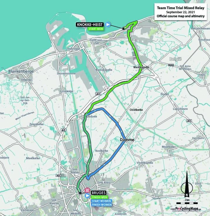Championnats du monde sur route 2021 - Parcours Contre-la-montre Relais mixte