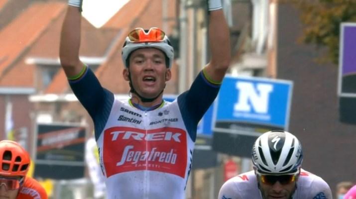 Mads Pedersen - Vainqueur Gand-Wevelgem Hommes 2020 - Capture VRT