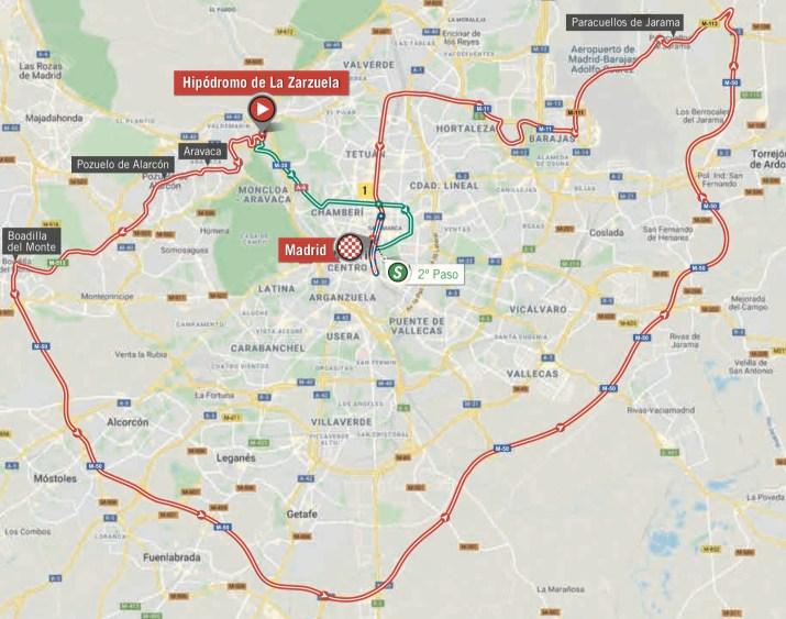 20e étape - Nouvelle carte - Tour d' Espagne Vuelta 2020