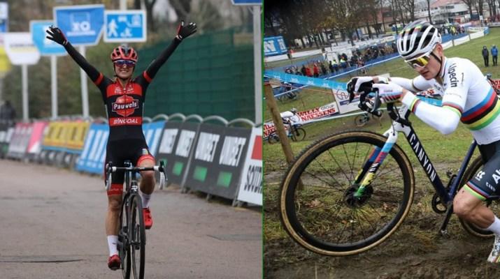 Montage Denise Betsema Mathieu Van der Poel - Cyclo-cross d'Anvers 2020 - Alain Vandepontseele