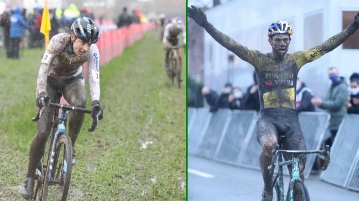 Montage Lucinda Brand Wout van Aert - Cyclo-cross Dendermonde 2020 - Alain Vandepontseele