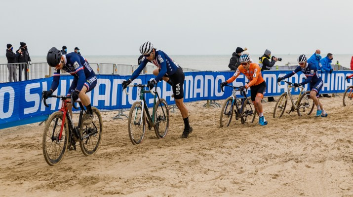 David Menut Curtis White David Van der Poel Yan Gras - Championnats du monde de cyclo-cross 2021 - Alain Vandepontseele