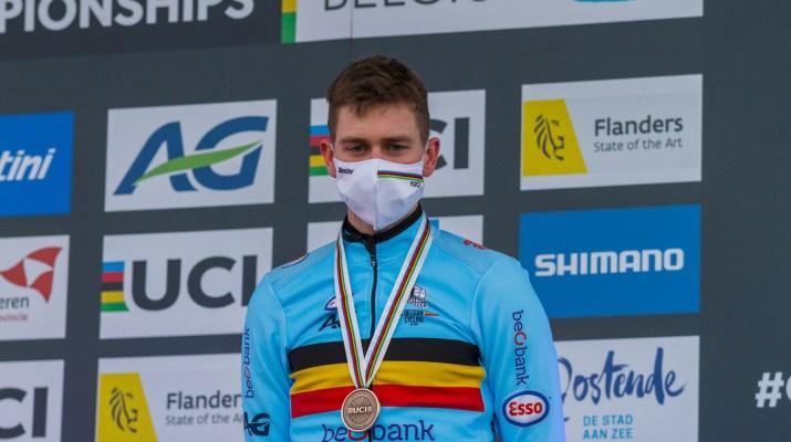 Toon Aerts Podium - Championnats du monde de cyclo-cross 2021 - Alain Vandepontseele