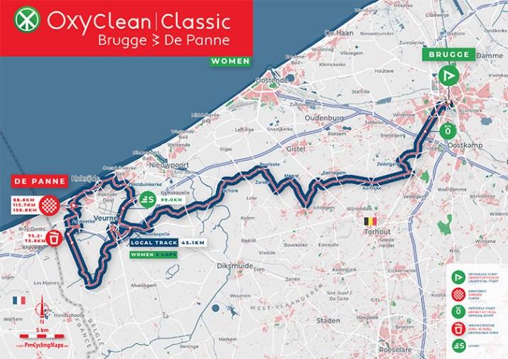 Oxyclean Classic Bruges-La Panne 2021 - Carte Femmes