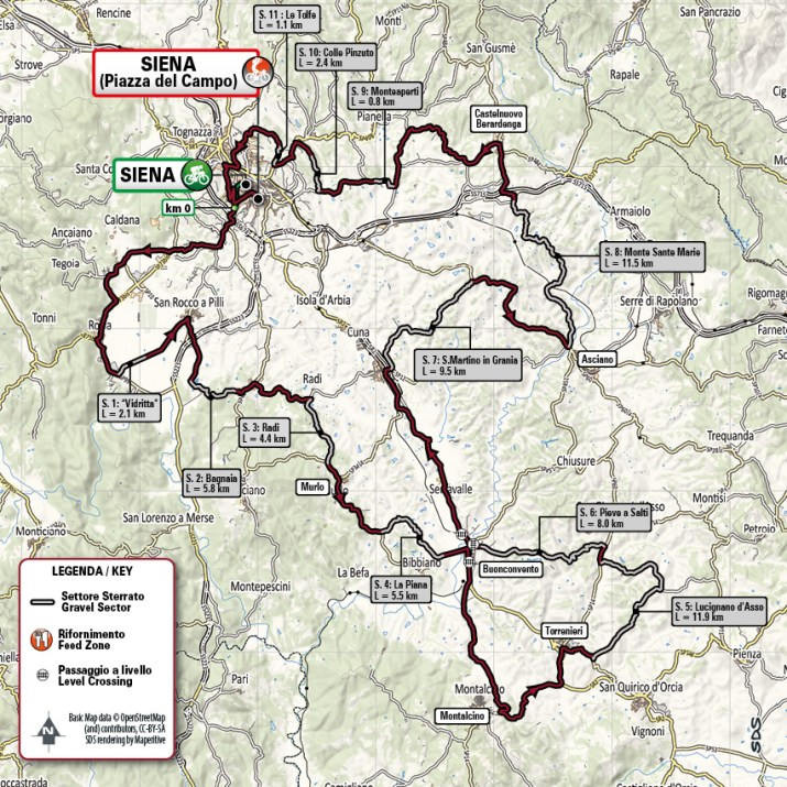 Strade Bianche 2021 - Parcours Hommes