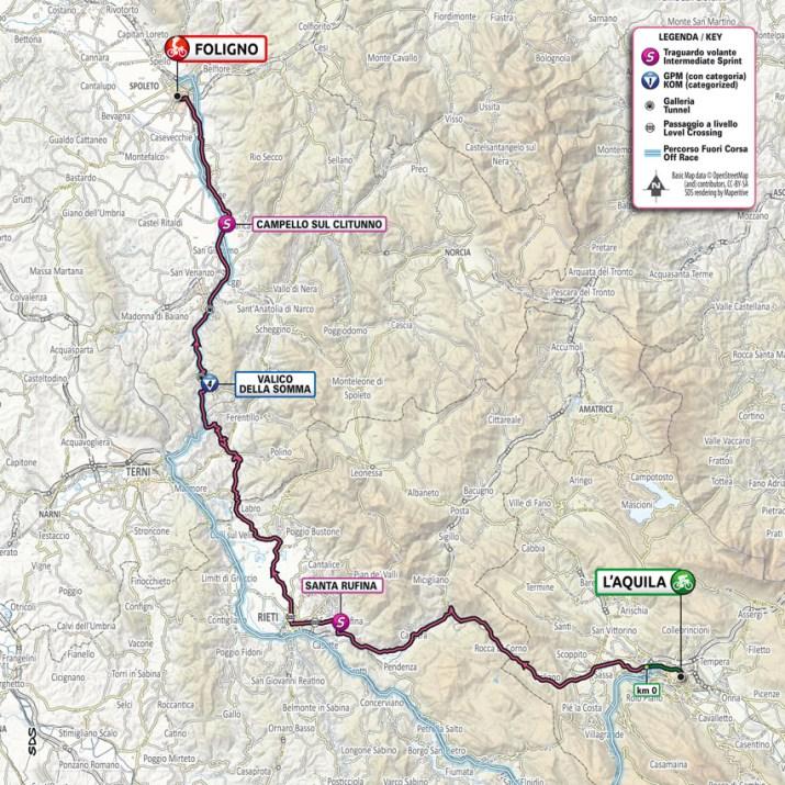 10e étape - Carte - Tour d'Italie Giro 2021