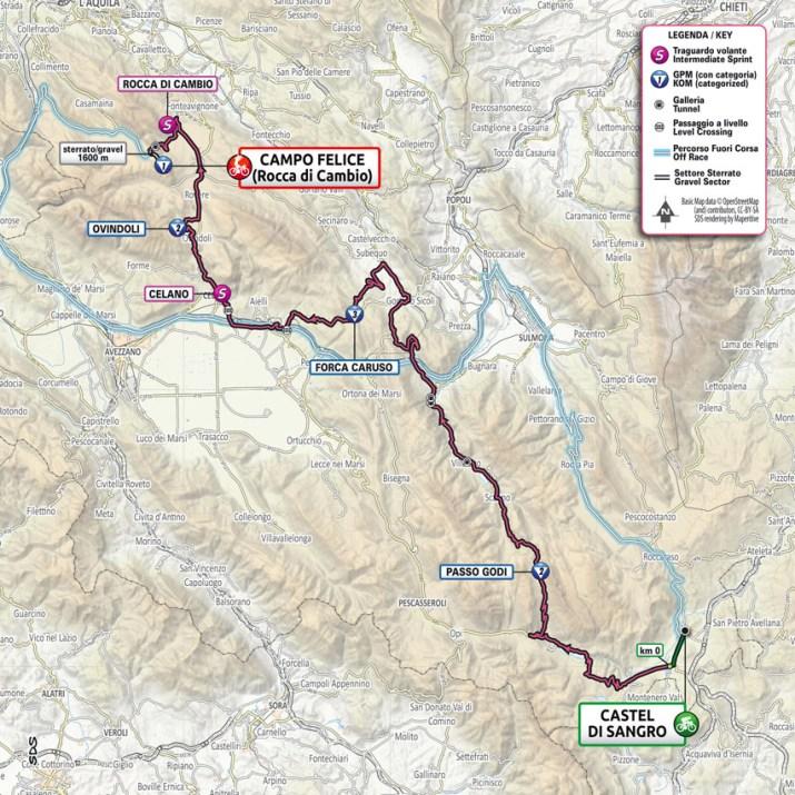 9e étape - Carte - Tour d'Italie Giro 2021