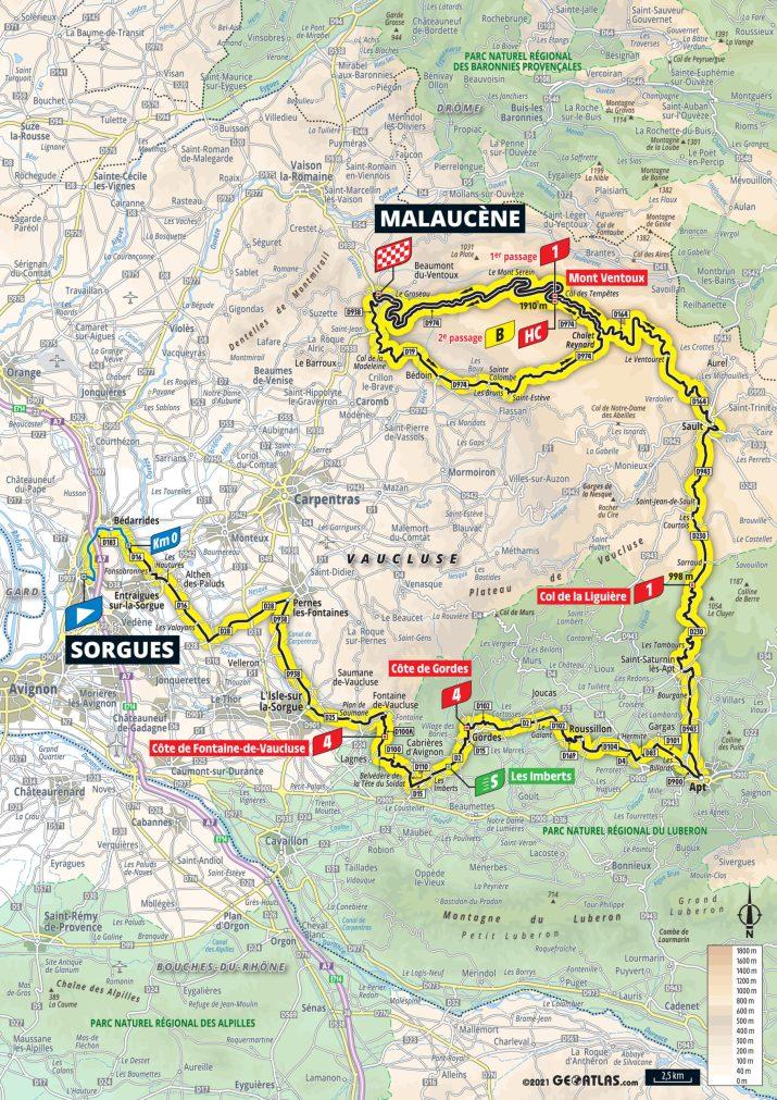 11e étape - Carte - Tour de France 2021