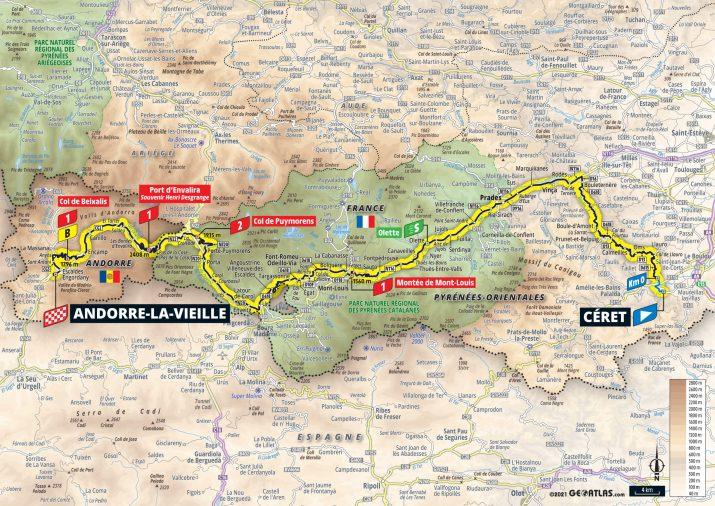 15e étape - Carte - Tour de France 2021