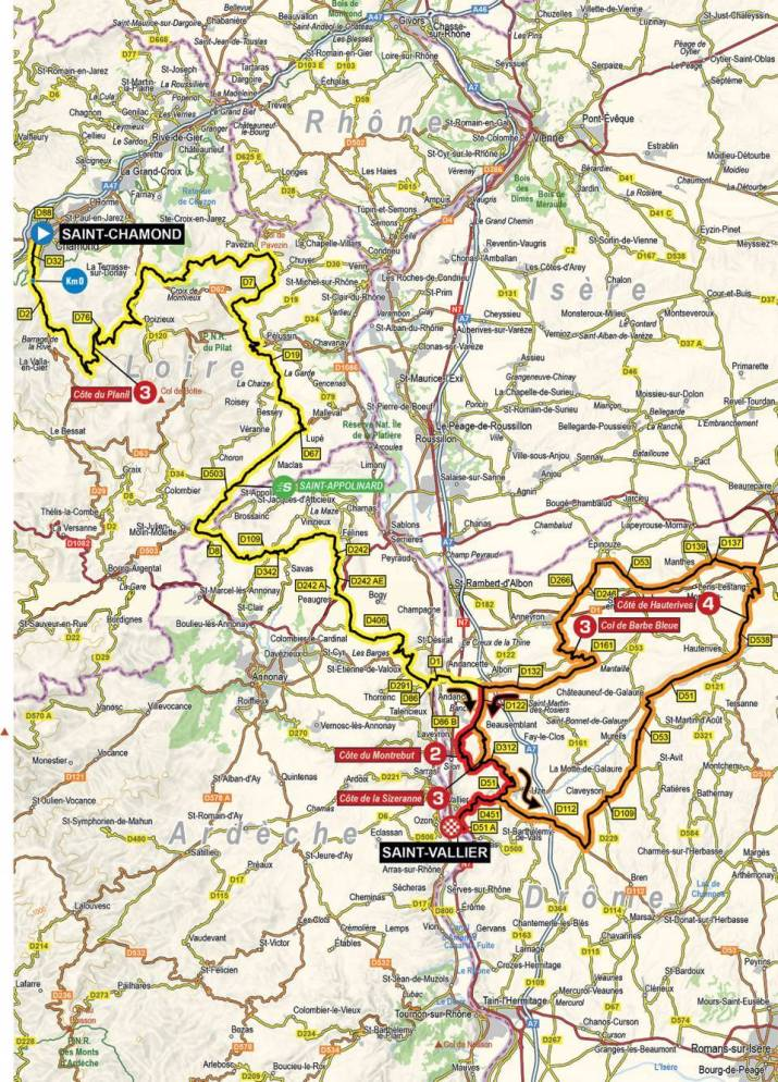 5e étape - Carte - Critérium du Dauphiné 2021