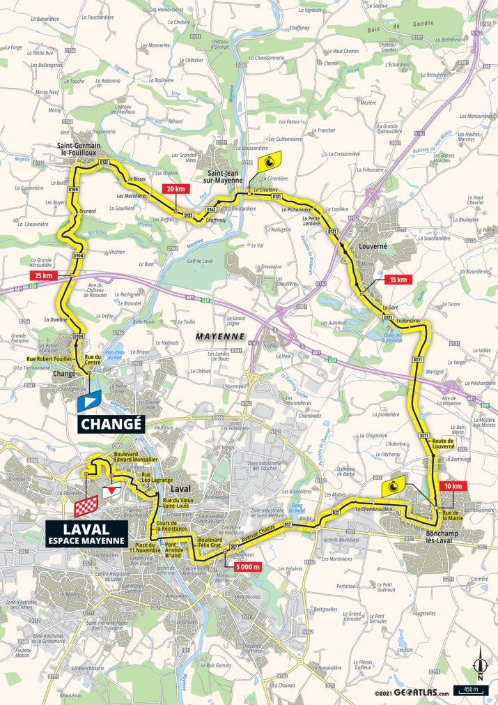 5e étape - Carte - Tour de France 2021