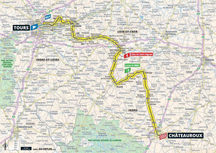 6e étape - Carte - Tour de France 2021
