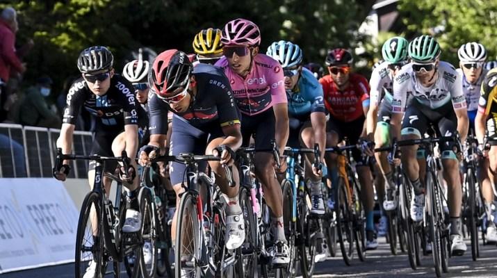 Peloton Egan Bernal Maillot rose - 12e étape Tour d'Italie Giro 2021 - RCS Sport La Presse Fabio Ferrari
