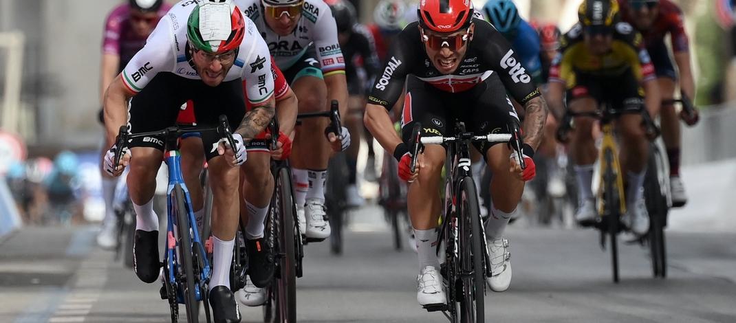Sprint Giacomo Nizzolo Cadel Evans - Victoire 5e étape Tour d'Italie 2021 - RCS Sport La Presse Gian Mattia D'Alberto