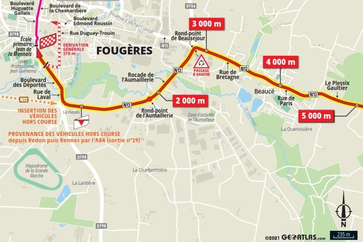 4e étape - Carte du final - Tour de France 2021