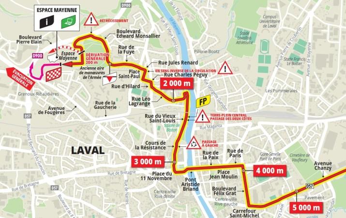 5e étape - Carte du final - Tour de France 2021