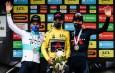 Podium final - Alexey Lutsenko Richie Porte Geraint Thomas - Critérium du Dauphiné 2021 - ASO Fabien Boukla