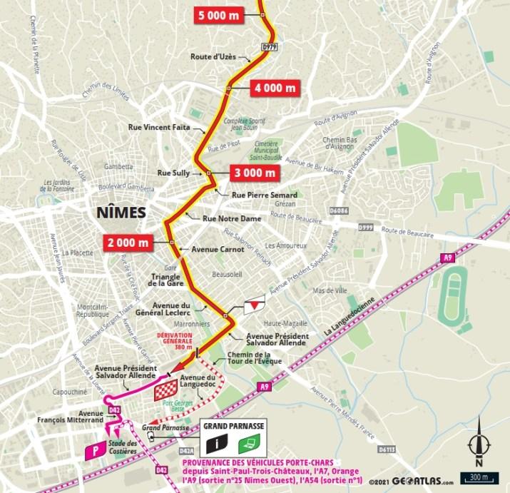 12e étape - Carte du final - Tour de France 2021
