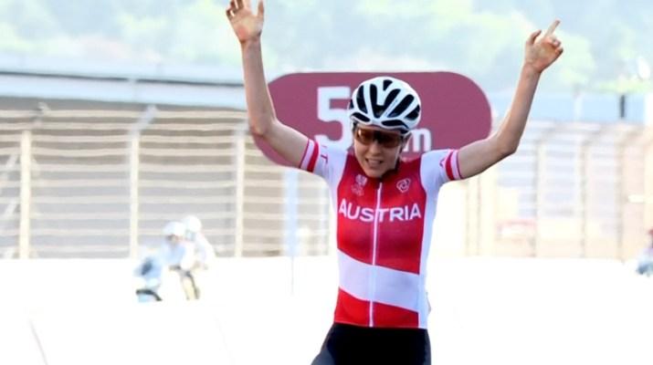Anna Kiesenhofer - Vainqueure Jeux Olympiques 2021 - Capture Eurosport