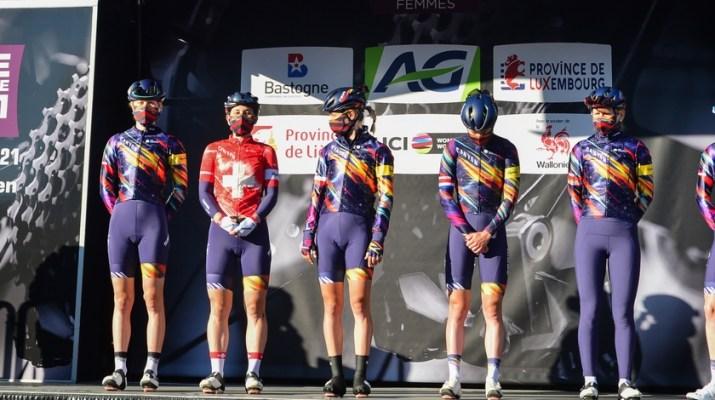 Équipe Canyon SRAM Racing - Présentation Liège-Bastogne-Liège 2021 - ASO Gautier Demouveaux